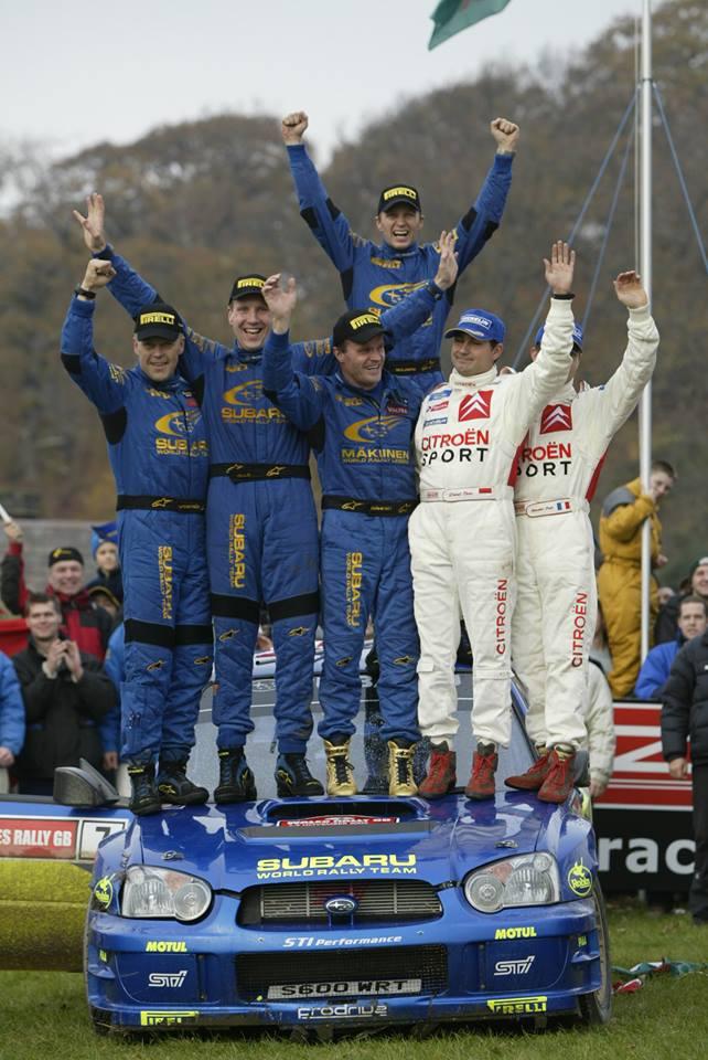źródło: fb/Petter Solberg  |  Petter Solberg po wygraniu Mistrzostwa Świata w 2003 roku