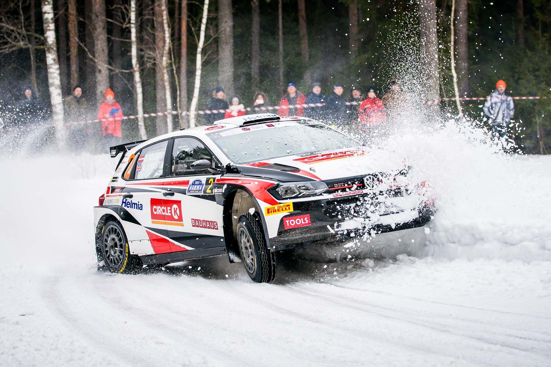 źródło: fb/@oliversolberg  |  Oliver Solberg zaliczył w tym sezonie już dwa starty na Łotwie