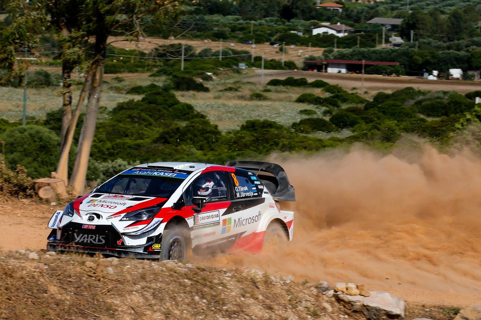 źródło: Toyota Gazoo Racing WRC  |  Tanak całkowicie zdominował rywalizację na drugim etapie