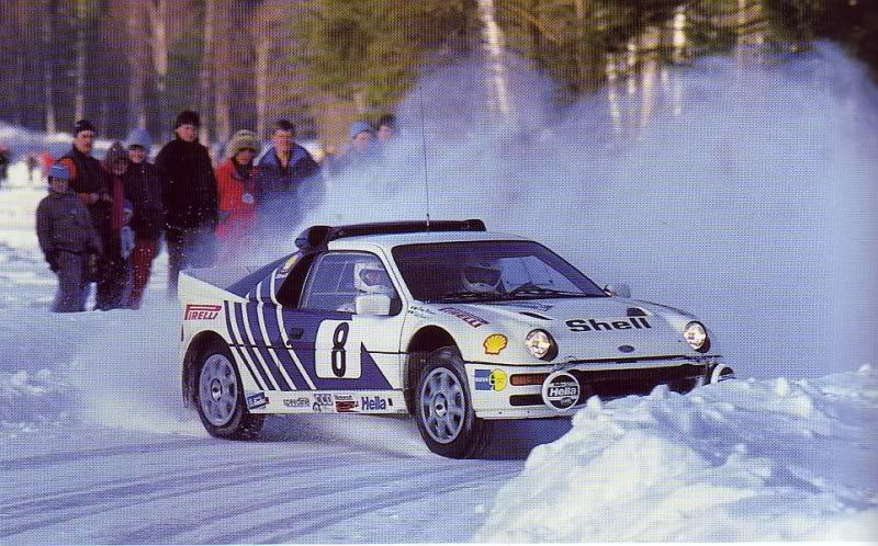 źródło: Ford  |  Kalle Grundel jedzie po 3 miejsce w Szwecji 1986