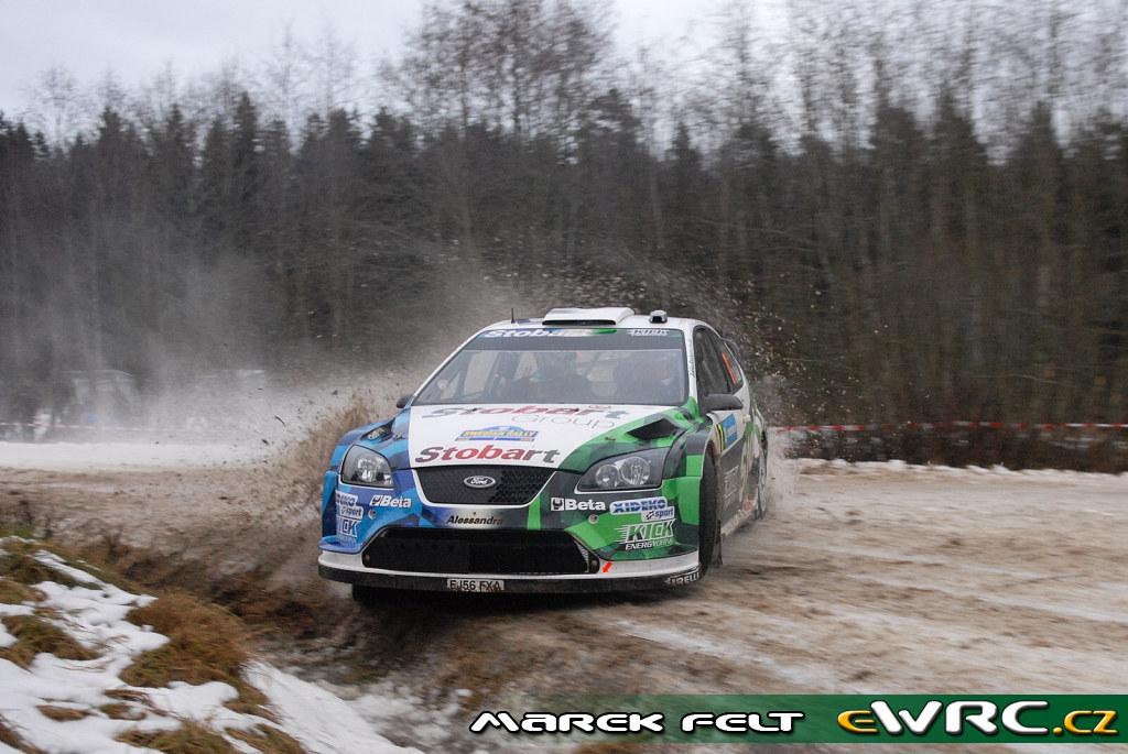 źródło: ewrc.cz  |  Galli podczas Rajdu Szwecji, w którym zdobył drugie w karierze podium