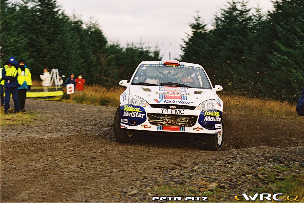 źródło: ewrc.cz | Colin podczas Rajdu Wielkiej Brytanii 2001
