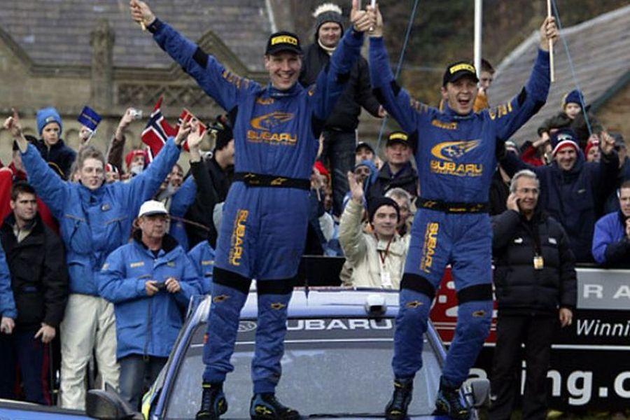 źródło: fb/Petter Solberg | Transfer do Subaru pozwolił Solbergowi na zostanie Mistrzem Świata w 2003 roku
