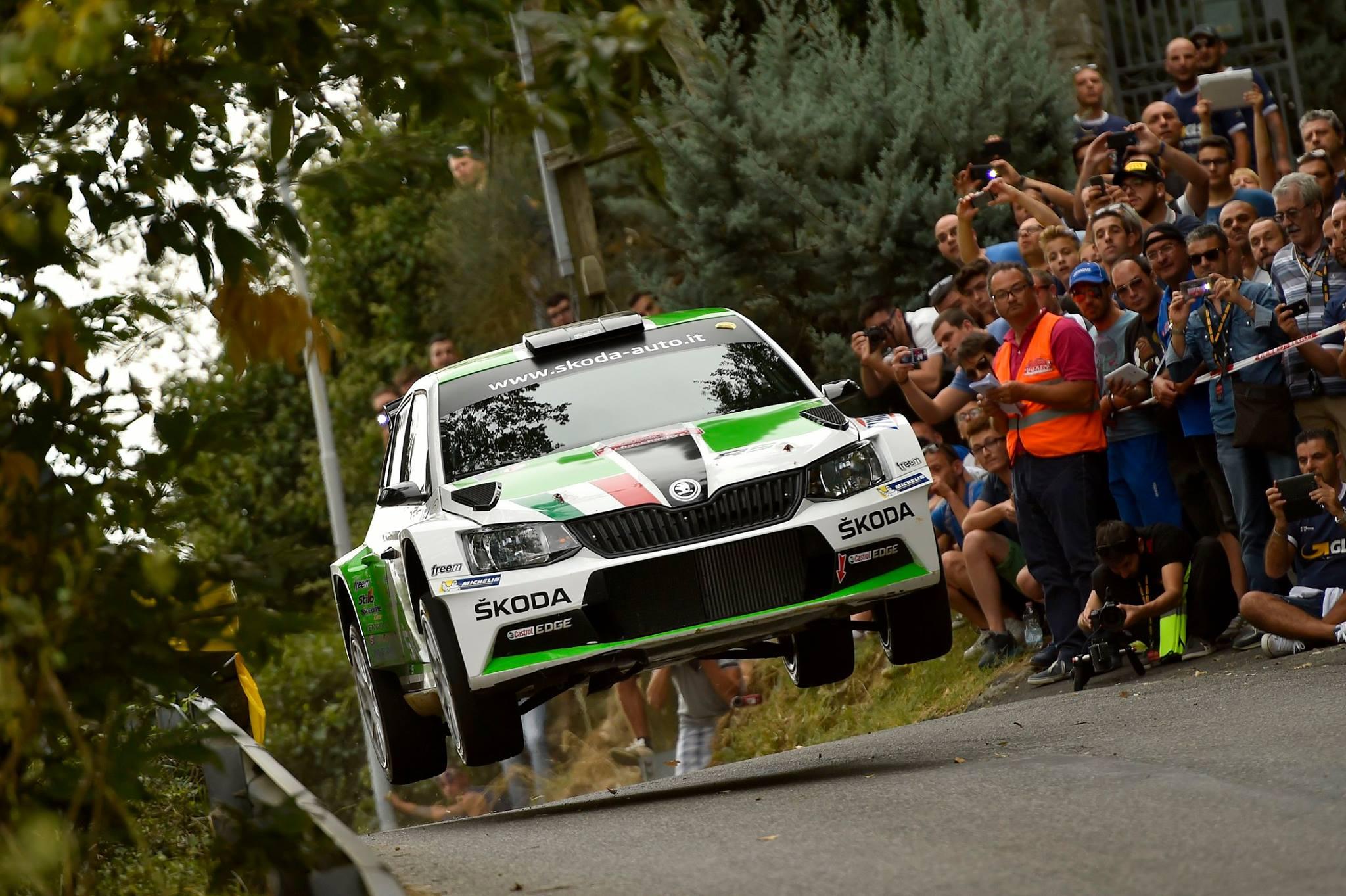 źródło: fb/Rally Roma di Capitale | Umberto Scandola dosyć niespodziewanie wygrał w Rzymie w 2015 roku.