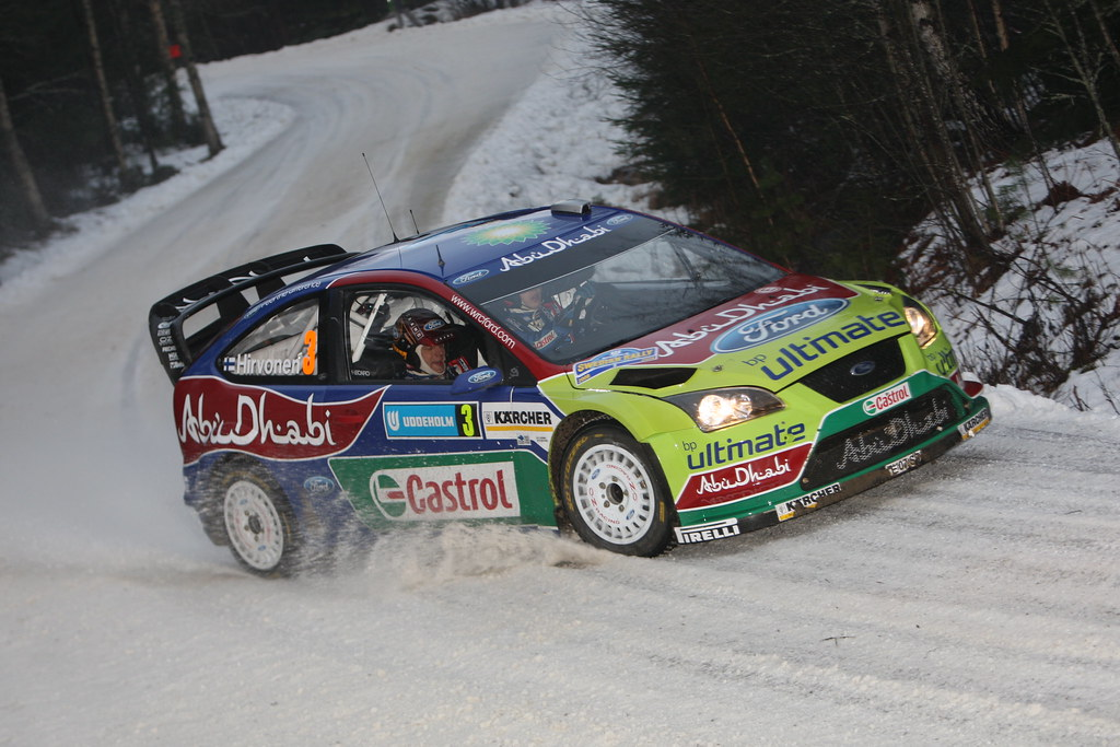 źródło: Ford   Hirvonen podczas Rajdu Szwecji 2008